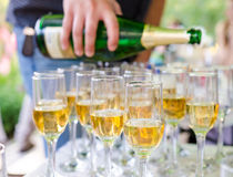 Champagne in glazen Stock Fotografie