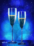 Champagne and glowing background Royalty Free Stock Photos
