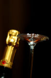 Champagne and goblet Royalty Free Stock Photo