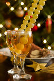 Champagne and grapes Stock Photo