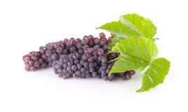 Champagne Grapes With Leaves Stock Image