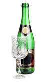 Champagne green bottle Royalty Free Stock Photography