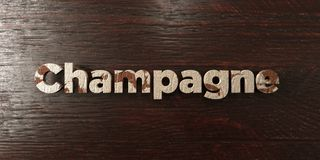 Champagne - grungy wooden headline on Maple  - 3D rendered royalty free stock image Royalty Free Stock Photo