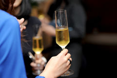 Champagne on hand Stock Image
