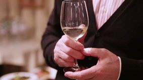 Champagne in hand stock footage