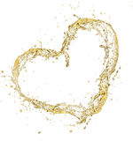 Champagne heart Stock Photography