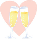 Champagne heart Royalty Free Stock Photography
