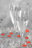 Champagne with Hearts Stock Image