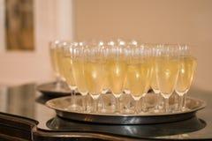 Champagne-het welkom heten glazen royalty-vrije stock afbeelding