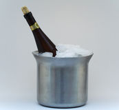 Champagne In Ice. Isolated champagne in ice Stock Image