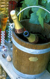 Champagne in an ice bucket Royalty Free Stock Images