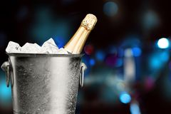 Champagne Ice Bucket Immagini Stock
