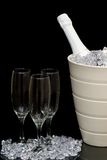 Champagne in ice Bucket Stock Photos