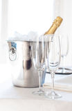 Champagne in an ice bucket Royalty Free Stock Image