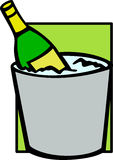 champagne in ice bucket vector illustration Stock Photo