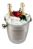 Champagne with ice cooler Royalty Free Stock Image