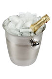 Champagne with ice cooler Royalty Free Stock Photos