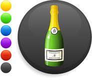Champagne icon on round internet button Royalty Free Stock Photography