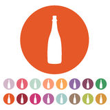 The champagne icon. Wine symbol. Flat Stock Photography