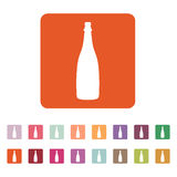 The champagne icon. Wine symbol. Flat Royalty Free Stock Photos