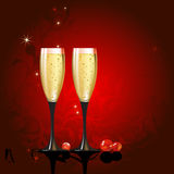 Champagne illustration Royalty Free Stock Photo