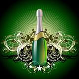 Champagne illustration Royalty Free Stock Photos