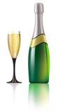 Champagne illustration Royalty Free Stock Photo