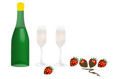 Champagne - illustration Royalty Free Stock Image