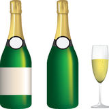 Champagne illustrations Royalty Free Stock Photo