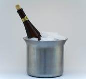Champagne im Eis Stockbild