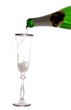 Champagne, isolated. Royalty Free Stock Photo