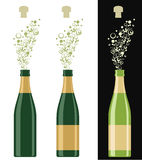 Champagne. Isolated objects. Vector illustration (EPS 10 Stock Image