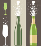 Champagne. Isolated objects. Vector illustration (EPS 10 Royalty Free Stock Photography