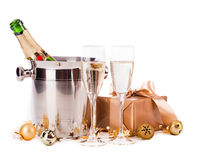 Champagne isolated on white Royalty Free Stock Image