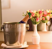 Champagne-Kühler Stockfotos