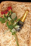 Champagne-Korb Stockfotos