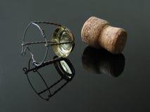 Champagne-Korken. Lizenzfreie Stockfotos
