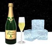 Champagne la nuit Photographie stock libre de droits