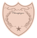 Champagne label Stock Photo