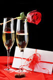 Champagne  and letter Stock Photography