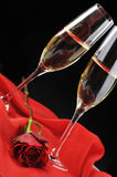 Champagne  and letter Royalty Free Stock Images