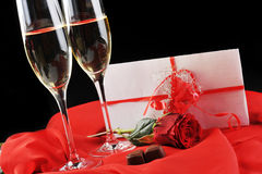 Champagne  and letter Royalty Free Stock Image