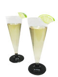 Champagne with lime Stock Images