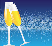 Champagne-Luftblasen Lizenzfreies Stockbild