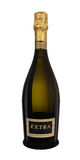 Champagne. Luxury golden extra champagne bottle Stock Photography