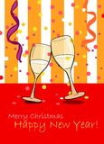 Champagne. Merry Christmas Royalty Free Stock Photography