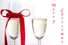 Champagne Merry Christmas Photo stock