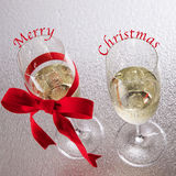 Champagne Merry Christmas Photo libre de droits