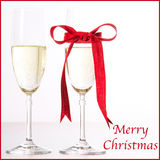 Champagne Merry Christmas Photos libres de droits