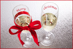Champagne Merry christmas Stock Photography